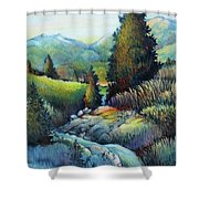 Shady Creek Shower Curtain