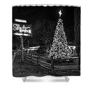 Shady Grove Austin Bw Shower Curtain