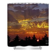 Shafts Of Fading Light Shower Curtain