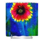 Shaggy Moon For A Shaggy Flower Shower Curtain