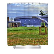 Shaker Barn And Sorghum Mill Shower Curtain