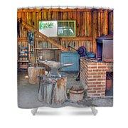 Shaker Blacksmith Barn Shower Curtain