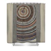 Shaker Circular Rug Shower Curtain
