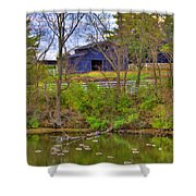 Shaker Lake Geese Shower Curtain