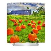 Shaker Pumpkin Harvest Shower Curtain