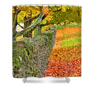 Shaker Stone Fence 3 Shower Curtain