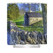 Shaker Stone Fence 6 Shower Curtain