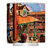Shakespeare Performing At The Globe Theater Shower Curtain