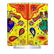 Shalimar Birds - Jinga Bird Shower Curtain