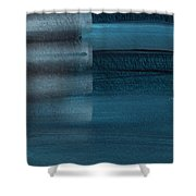 Shallow- Abstract Art By Linda Woods Shower Curtain