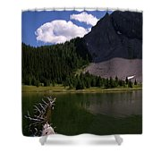 Shallow Mountain Lake Shower Curtain