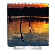Shallow Water Sunset Shower Curtain