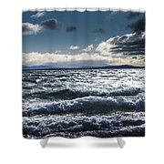 Shallows And Depths Of Adventure Bay Shower Curtain