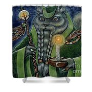 Shaman's Moon Shower Curtain