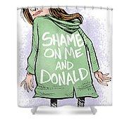 Shame On Trumps Shower Curtain