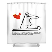 Shanghai Circuit Shower Curtain