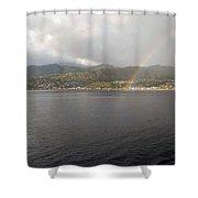 Roseau Dominica Shower Curtain