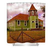 Shaniko School District Sixty Seven Shower Curtain