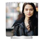 Shanina Shaik Shower Curtain