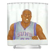 Shannon Brown Shower Curtain by Toni Jaso