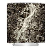 Shannon Falls - Bw Shower Curtain