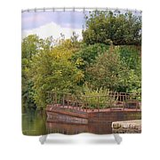 Shannon River Barge Shower Curtain