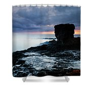 Shaped By The Waves Shower Curtain by Mike  Dawson