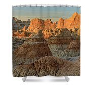 Shapely Mud Shower Curtain
