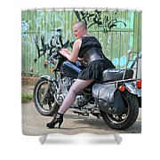 Shapely Sidestand Shower Curtain