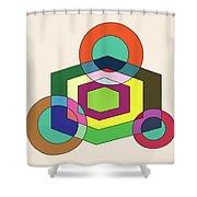Shapeplay40clr Shower Curtain