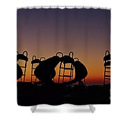 Shapes In The Dawn Shower Curtain by Jeremy Hayden