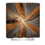 Shapes Of Fantasy Flowers Shower Curtain