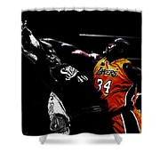 Shaq Protecting The Paint Shower Curtain