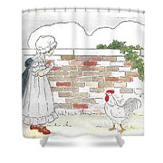 Shara And The Rooster Shower Curtain