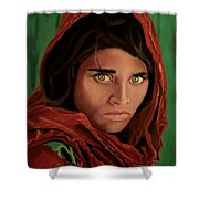 Sharbat Gula From Nat Geo Mccurry 1985 Shower Curtain