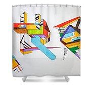 Shard Shower Curtain
