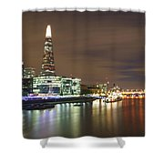 Shard From Tower Bridge London Shower Curtain