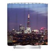 Shard Oxo Tower London Eye Walkie Talkie From Balfron Tower Shower Curtain
