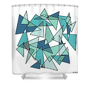 Shards Of Blue Shower Curtain