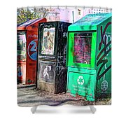 Share Your Metro With A Friend Shower Curtain