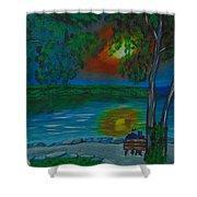 Shared Sunset Hamilton  Shower Curtain