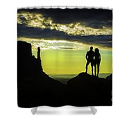 Sharing A Monument Valley Sunrise Shower Curtain