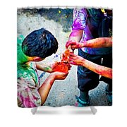 Sharing Colors Sharing Happiness Shower Curtain