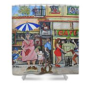 Sharing -compartiendo Shower Curtain