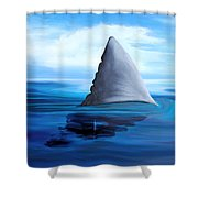 Shark Fin Shower Curtain