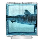 Shark In Magic Cubes - 2 Of 3 Shower Curtain