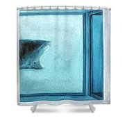 Shark In Magic Cubes - 3 Of 3 Shower Curtain
