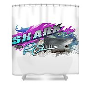 Shark Life Pink Lemon Shark Shower Curtain