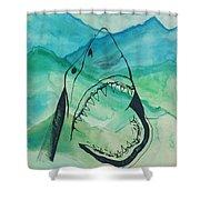 Shark Mountain  Shower Curtain