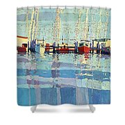 Shark River Inlet Shower Curtain